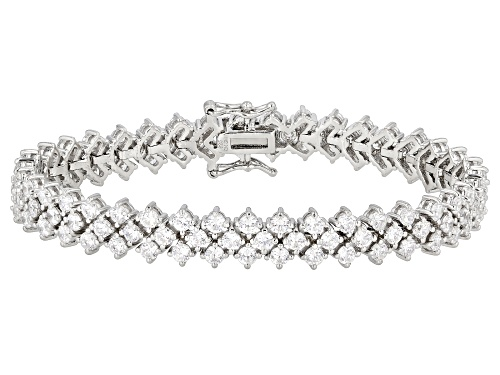 Photo of Bella Luce ® 17.70ctw White Diamond Simulant Rhodium Over Silver Tennis Bracelet - Size 8