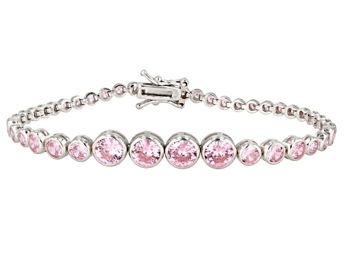 Photo of Bella Luce ® 10.10ctw Pink Diamond Simulant Rhodium Over Silver Tennis Bracelet (5.88ctw DEW) - Size 8