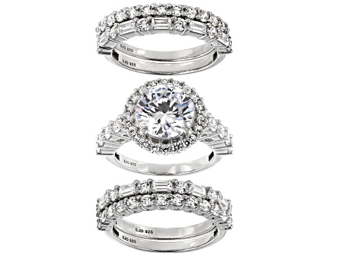 Photo of Bella Luce ® 12.73ctw Rhodium Over Sterling Silver Ring- Set of 5 (6.06ctw DEW) - Size 8