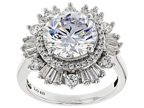 Photo of Bella Luce ® 7.93ctw Rhodium Over Sterling Silver Ring (5.10ctw DEW) - Size 8