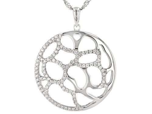 Photo of Bella Luce ® 1.27ctw Rhodium Over Sterling Silver Pendant With Chain (0.67ctw DEW)