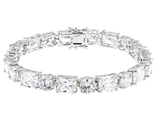 Bella Luce ® 69.29ctw White Diamond Simulant Rhodium Over Silver Tennis Bracelet (42.90ctw DEW) - Size 7.25