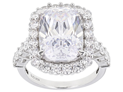 Photo of Bella Luce ® 13.71ctw White Diamond Simulant Rhodium Over Sterling Silver Ring (9.60ctw DEW) - Size 8