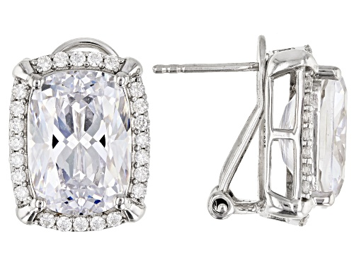 Photo of Bella Luce ® 23.80ctw White Diamond Simulant Rhodium Over Sterling Silver Earrings