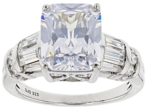 Photo of Bella Luce ® 8.95ctw Rhodium Over Sterling Silver Ring (6.86ctw DEW) - Size 8