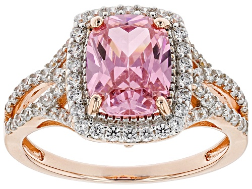 Photo of Bella Luce ® 3.21ctw Pink and White Diamond Simulants Eterno™ Rose Ring (1.70ctw DEW) - Size 10