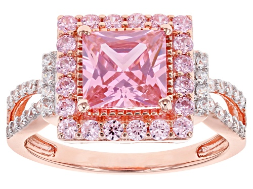 Photo of Bella Luce ® 4.05ctw Pink and White Diamond Simulants Eterno ™ Rose Ring (2.44ctw DEW) - Size 12