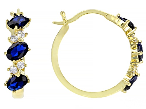 Photo of Bella Luce ® 3.05ctw Blue Sapphire and White Diamond Simulants Eterno ™ Yellow Earrings