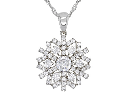 Photo of Bella Luce ® 2.99ctw Rhodium Over Sterling Silver Snowflake Pendant With Chain (1.54ctw DEW)