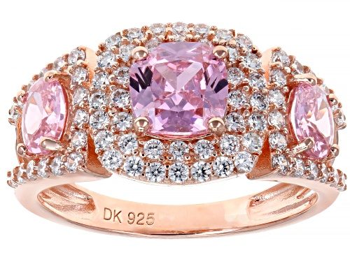 Photo of Bella Luce ® 3.88ctw Pink and White Diamond Simulants Eterno ™ Rose Ring (2.26ctw DEW) - Size 6