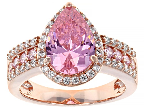 Photo of Bella Luce ® 6.13ctw Pink and White Diamond Simulants Eterno ™ Rose Ring (3.71ctw DEW) - Size 7
