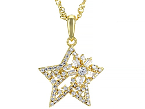 Photo of Bella Luce ® 1.08ctw White Diamond Simulant Eterno ™ Yellow Star Pendant With Chain (0.68ctw DEW)