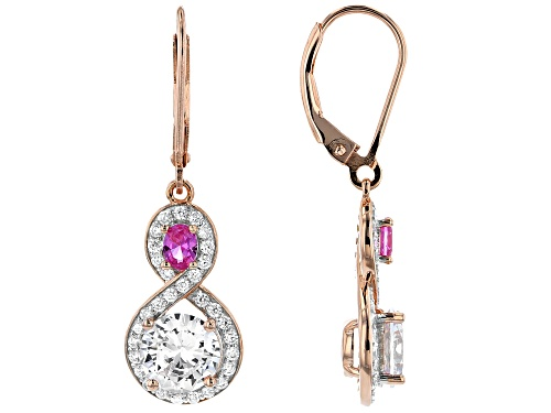 Photo of Bella Luce ® 5.64ctw Lab Pink Sapphire and White Diamond Simulant Eterno ™ Rose Earrings