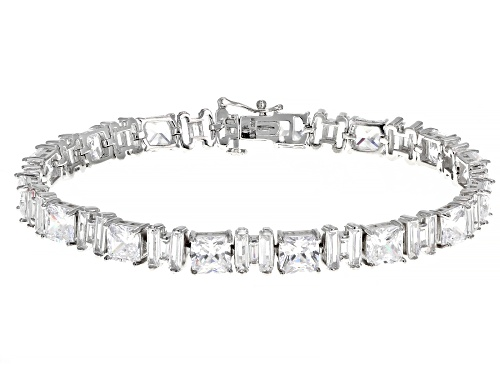 Photo of Bella Luce ® 50.20ctw White Diamond Simulant Rhodium Over Silver Tennis Bracelet (33.61ctw DEW) - Size 8