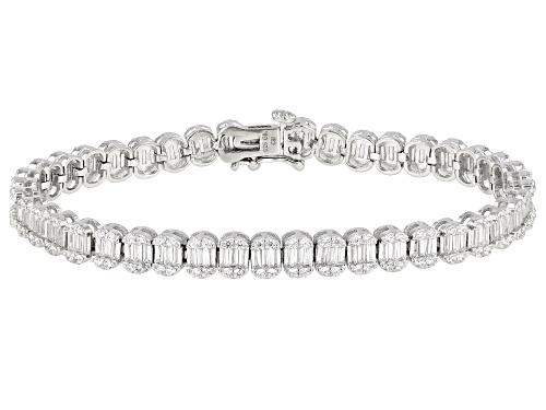 Photo of Bella Luce ® 4.88ctw White Diamond Simulant Rhodium Over Silver Tennis Bracelet (2.46ctw DEW) - Size 8