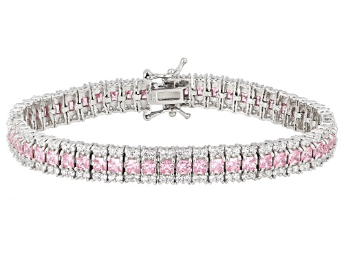 Photo of Bella Luce®19.14ctw Pink And White Diamond Simulants Rhodium Over Silver Bracelet (9.99ctw DEW) - Size 8