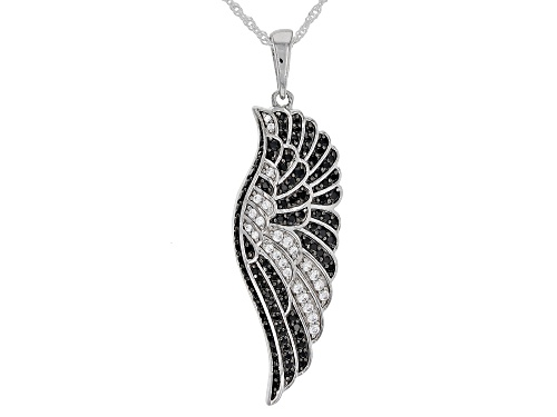 Photo of Bella Luce ® 1.55ctw Black Spinel and Diamond Simulant Rhodium Over Sterling Pendant With Chain
