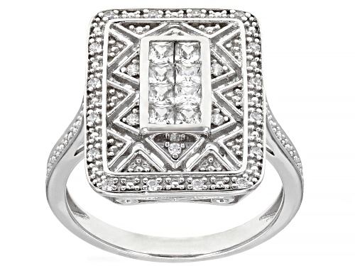 Photo of Bella Luce ® 0.88ctw Rhodium Over Sterling Silver Ring (0.61ctw DEW) - Size 7