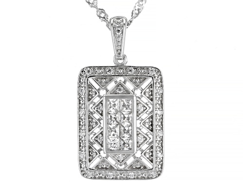 Photo of Bella Luce ® 0.87ctw Rhodium Over Sterling Silver Pendant With Chain (0.61ctw DEW)