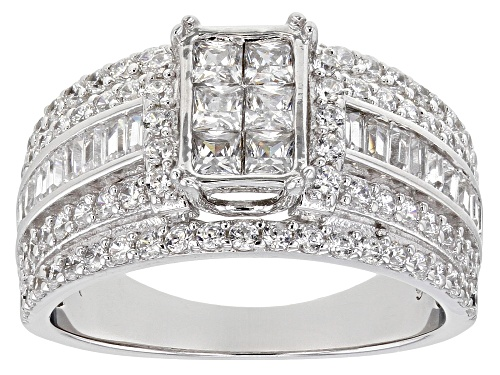 Photo of Bella Luce ® 2.82ctw Platinum Over Sterling Silver Ring (1.67ctw DEW) - Size 7