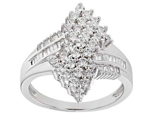 Photo of Bella Luce ® 1.69ctw Platinum Over Sterling Silver Ring (1.07ctw DEW) - Size 7