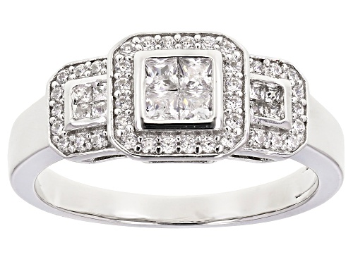 Photo of Bella Luce ® 0.78ctw Platinum Over Sterling Silver Ring (0.18ctw DEW) - Size 10