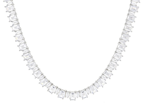 Photo of Bella Luce ® 87.35ctw White Diamond Simulant Rhodium Over Silver Tennis Necklace (69.50ctw DEW) - Size 18