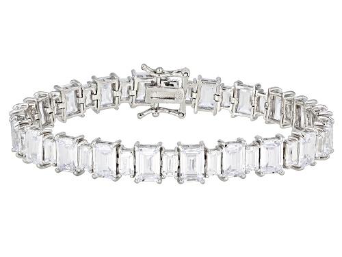 Photo of Bella Luce ® 37.69ctw White Diamond Simulant Rhodium Over Silver Tennis Bracelet (29.58ctw DEW) - Size 8