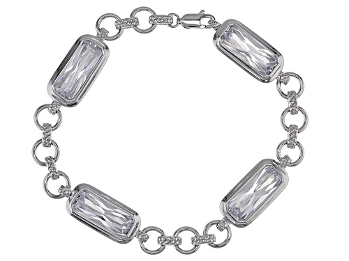 Photo of Bella Luce ® 22.64ctw Rhodium Over Sterling Silver Bracelet - Size 7.5