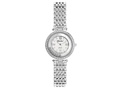 Bella Luce® Ladies 2.13ctw White Diamond Simulant Rhodium Over Brass Wrist Watch (1.00ctw DEW)
