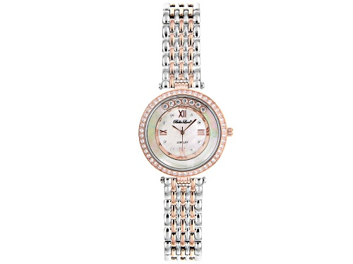 Photo of Bella Luce® Ladies 2.13ctw White Diamond Simulant Rhodium And Eterno™ Rose Over Brass Wrist Watch