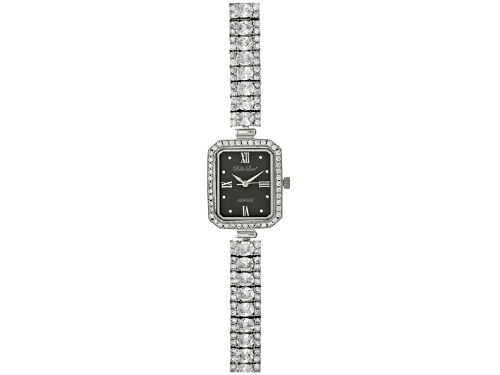 Photo of Bella Luce ® Ladies Round And Oval Diamond Simulant 13.5 Ctw Sterling Silver Black Mop Dial Watch