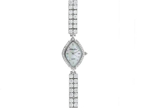 Photo of Bella Luce ® Ladies Round Diamond Simulant 14.4ctw Sterling White Watch