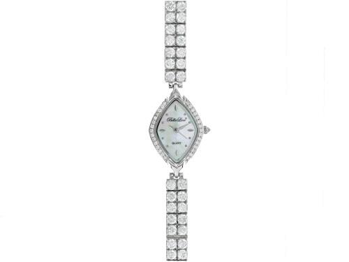 Photo of Bella Luce ® Ladies Round Diamond Simulant 14.4ctw Sterling White Watch