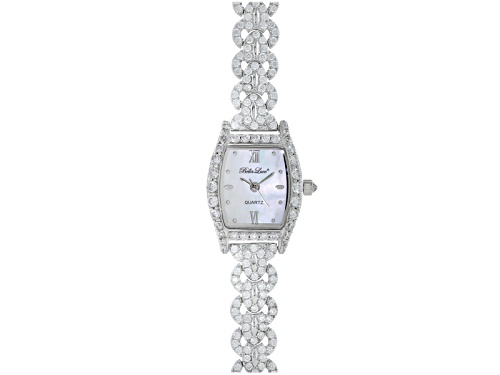 Photo of Bella Luce® Ladies Round Diamond Simulant 6.08ctw Sterling White Watch