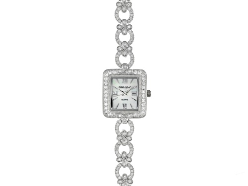 Photo of Bella Luce® Ladies Round Diamond Simulant 6.69ctw Mop Sterling Silver Watch