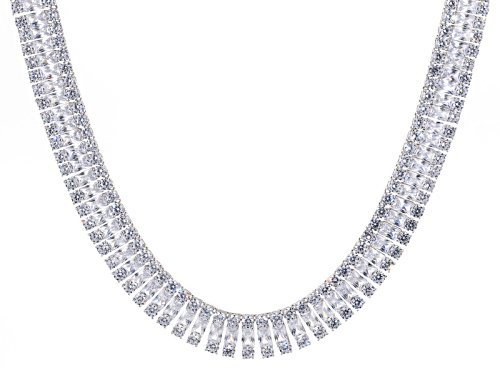 Photo of Bella Luce ® 208.50ctw Radiant Cut And Round Rhodium Over Silver Necklace (115.4ctw Dew) - Size 18