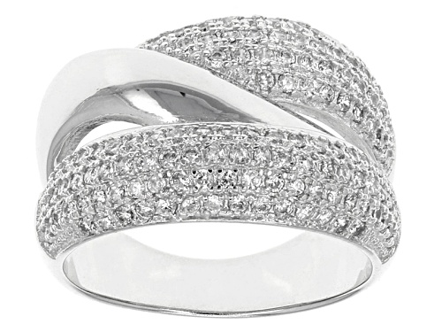 Photo of Bella Luce ® .90ctw Round Rhodium Over Silver Ring (.62ctw Dew) - Size 6