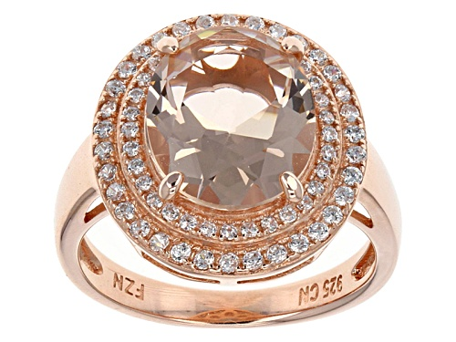 Photo of Bella Luce ® 4.10ctw Morganite Simulant & Diamond Simulant Eterno ™ Rose Ring - Size 11