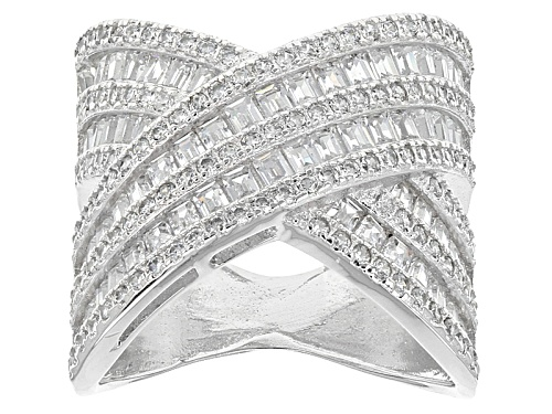 Photo of Bella Luce ® 4.65ctw Round Rhodium Over Sterling Silver Ring - Size 7