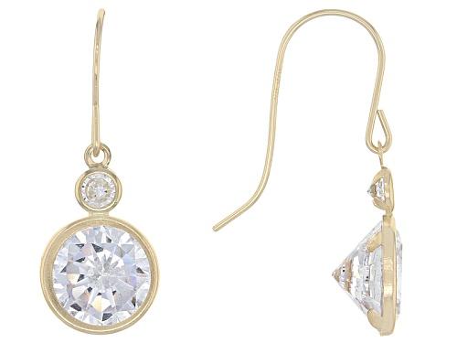 Photo of Bella Luce ® 6.92ctw 10k Yellow Gold Earrings (4.08ctw Dew)