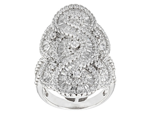 Photo of Bella Luce ® 3.17ctw Diamond Simulant Rhodium Over Sterling Silver Ring - Size 5