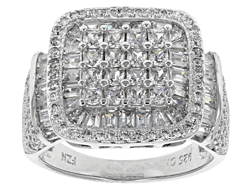 Photo of Bella Luce ® 7.22ctw Rhodium Over Sterling Silver Ring (3.00ctw Dew) - Size 5
