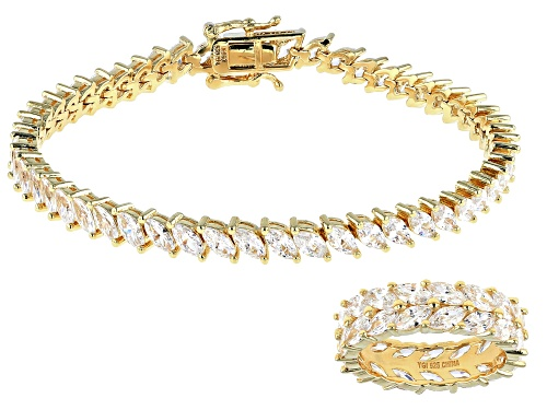 Photo of Bella Luce ® 18.40ctw Eterno™ Yellow Ring And Bracelet Set (13.16ctw Dew)
