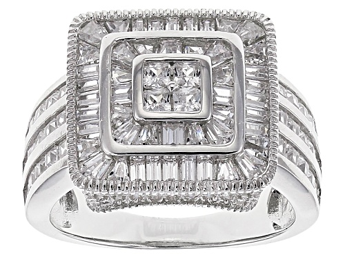 Photo of Bella Luce ® 4.21ctw Diamond Simulant Rhodium Over Sterling Silver Ring (2.29ctw Dew) - Size 10