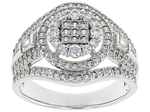 Photo of Bella Luce ® 1.71ctw Rhodium Over Sterling Silver Ring (.91ctw Dew) - Size 7