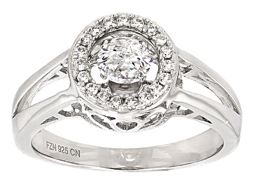 "Photo of Bella Luce ® 1.04ctw Rhodium Over Sterling Silver ""Dancing Bella"" Ring (.65ctw Dew) - Size 8"