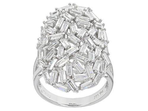 Photo of Bella Luce ® 5.3ctw Diamond Simulant Baguette Rhodium Over Sterling Silver Ring (3.48ctw Dew) - Size 5