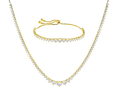 Photo of Bella Luce ® 25.98ctw Eterno ™ Yellow Adjustable Necklace And Bracelet