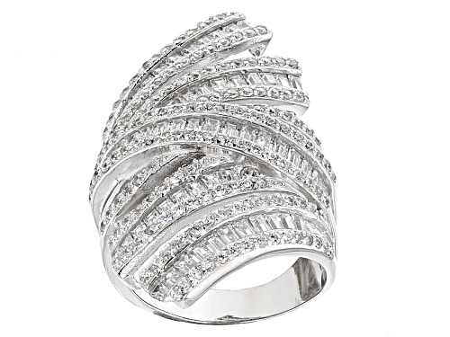 Photo of Bella Luce ® 6.41ctw Rhodium Over Sterling Silver Ring (4.25ctw Dew) - Size 6